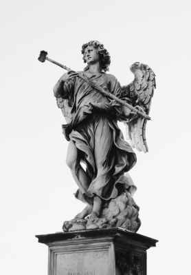 black and gray angel statue decor